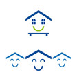 happy houses vector image vector image