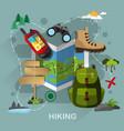 hiking equipment vector image