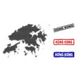 hong kong map in halftone dot style with grunge vector image vector image