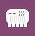 icon children musical instrument synthesizer vector image vector image