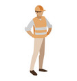 industrial worker avatar character vector image vector image