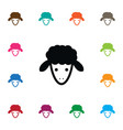 isolated goat icon flock element can be vector image vector image