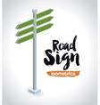 isometrics road sign design vector image vector image