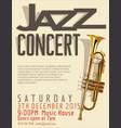 jazz poster 2 vector image vector image