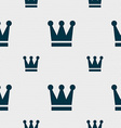 King Crown icon sign Seamless pattern with vector image vector image