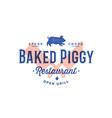 label logo meat restaurant vector image vector image