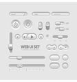 Light web ui elements design gray elements buttons vector | Price: 1 Credit (USD $1)