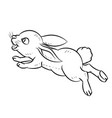 line drawing of rabbit -simple line vector image vector image
