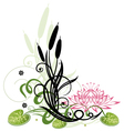Lotus flower reed vector image vector image