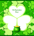 Lucky pot in clovers vector image vector image