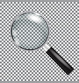 magnifying glass isolated with gradient mesh vector image