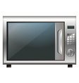 Microwave oven on white background vector image vector image