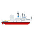 military communications vessel flat icon vector image vector image