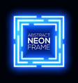 neon light abstract squares square background vector image vector image
