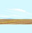 plow field rural landscape vector image