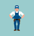 plumber angry fitter evil service worker vector image vector image