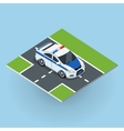 Police Car in Isometric Projection vector image vector image
