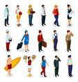 professions isometric people vector image