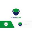 protection shield logo combination insurance vector image