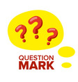 question mark sign icon thinking concept vector image vector image