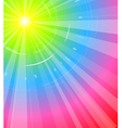 rainbow background vector image vector image