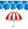 rainy sky background vector image