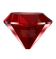 Red diamond isolated on white vector image vector image