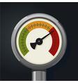 retro manometer realistic vintage pressure gauge vector image vector image