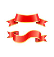 ribbon icons banners set vector image