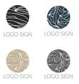 round mosaic logo signs vector image