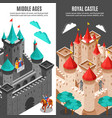 royal castle vertical banner set vector image