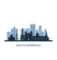 santo domingo skyline monochrome silhouette vector image vector image