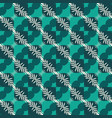 seamless pattern with stylized tropical leaves vector image vector image
