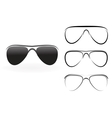 set modern glasses and sunglasses isolated on vector image