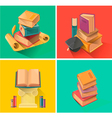Set of book in flat design vector image