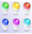 set of colored map pins vector image