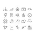 set seo related line icons vector image