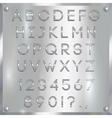 silver coated alphabet letters digits and vector image vector image
