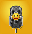 stand up comedy show poster with microphone and vector image vector image