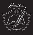 stylish pattern on the theme of jurisprudence vector image