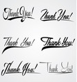 Thank You Hand Leterring vector image vector image