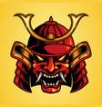 traditional mask head samurai japan vector image vector image