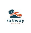 train railway logo design inspiration vector image vector image