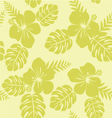 Tropical Pattern with Monstera leaves and hibiscus vector image vector image