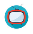 tv television icon vector image vector image