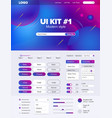 ui kit for website temlate buttons gui website vector image