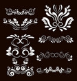 vintage frames and scroll elements4 vector image vector image