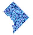 washington dc map mosaic of squares vector image