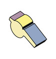 whistle isometry icon vector image