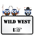 WILD WEST SIGN vector image vector image